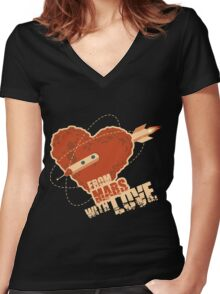 From Mars with love Women's Fitted V-Neck T-Shirt
