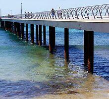 Lorne Pier - Victoria, Australia by Rhonda F.  Taylor