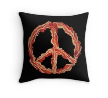 Peace of Bacon Throw Pillow