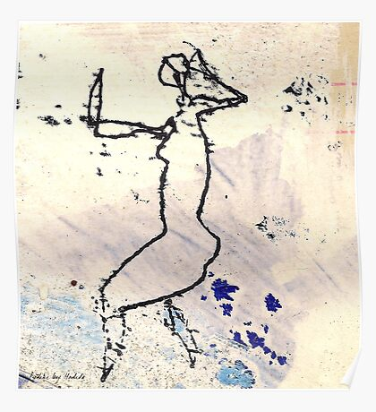 dancer 6 - the rain Poster