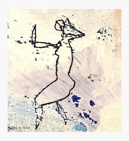 dancer 6 - the rain Photographic Print