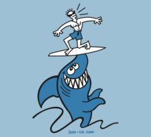 Shark Powered Surfing Kids Clothes