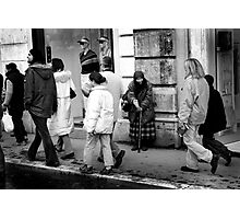 Poverty in the streets  Photographic Print