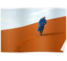 Nomade in the desert Poster