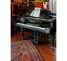 Piano with Sheet Music Photographic Print