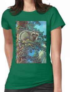 Treed Raccoon Lake Tahoe  Womens Fitted T-Shirt