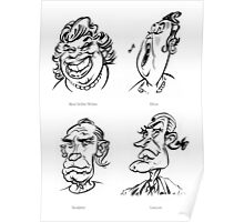 Caricature Sketches 5 Poster
