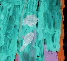 Waterfall-painted by four year old by linmarie
