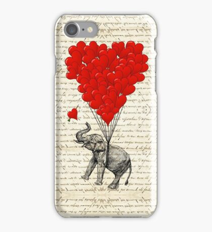 Elephant and love heart iPhone Case/Skin