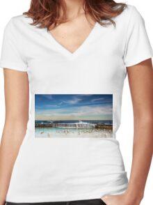 Bath Time - Newcastle NSW Australia Women's Fitted V-Neck T-Shirt