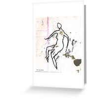 dancer 7  the rest Greeting Card