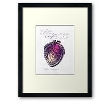 Anatomical Heart Love Print Purple Watercolor Ink illustration William Shakespeare Literary Quote Typography Framed Print