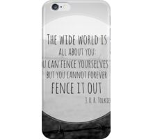 The Wide World is all about you iPhone Case/Skin