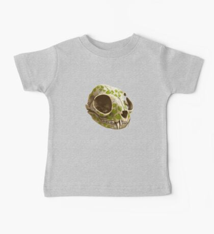 cat skull decorated with wasabi flowers Baby Tee