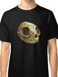 cat skull decorated with wasabi flowers Classic T-Shirt