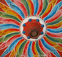 Ox Cart Wheel detail, Costa Rica, shot 1 by Guy C. André Tschiderer