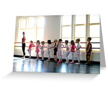 The ballet class Greeting Card
