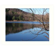 reflective experience ( Easton Mountain NY)  Art Print