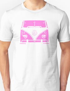 VW Kombi Pink Design T-Shirt