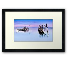 Fishing piers Framed Print