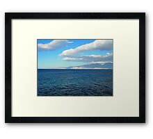 Greece, Crete - a view of the buy of Mirabello. Framed Print
