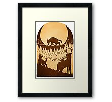 Full Moon in the Forbidden Forest Framed Print