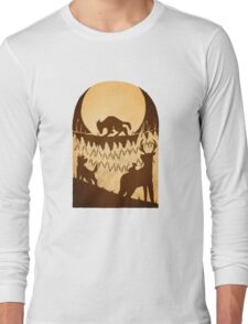 Full Moon in the Forbidden Forest Long Sleeve T-Shirt