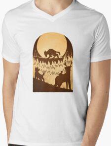 Full Moon in the Forbidden Forest Mens V-Neck T-Shirt
