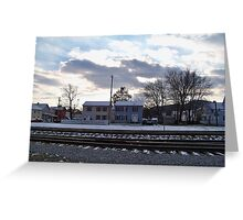 Winter In Port Jervis Greeting Card