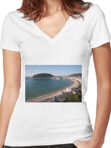 San Sebastián Women's Fitted V-Neck T-Shirt