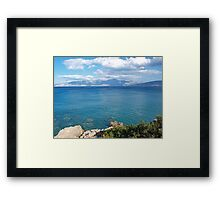 View of the Gulf of Mirabello Framed Print
