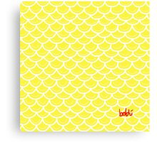 Fish scales yellow Canvas Print