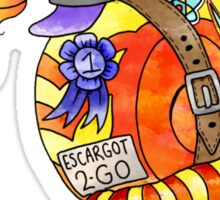 escargot to go Sticker