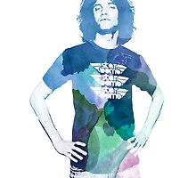 Danny Avidan - Watercolor by Caitlin Peter