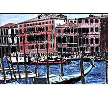 Canal Traffic in Venice Italy Photographic Print
