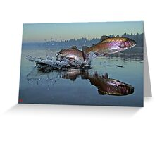 Dance of the Trout Greeting Card
