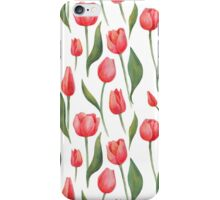 Watercolor Tulips Pattern iPhone Case/Skin
