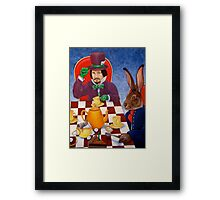 Mad Hatter and March Hare's tea party Framed Print