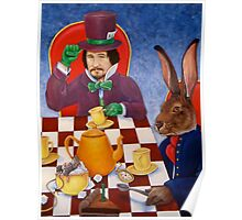 Mad Hatter and March Hare's tea party Poster