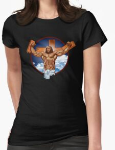 Come-at-me-bro-jesus Womens Fitted T-Shirt