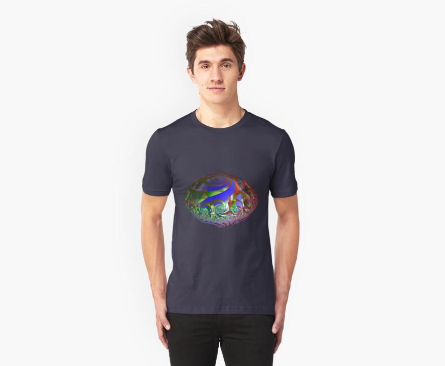 Rainbow coloured Spaceship by Britta Döll