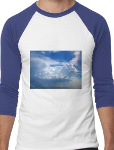 Stormy sky with clouds Men's Baseball ¾ T-Shirt