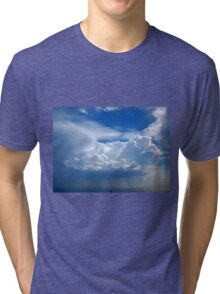 Stormy sky with clouds Tri-blend T-Shirt