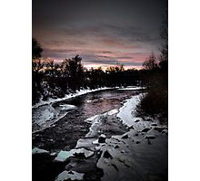 Sunset over the water! Photographic Print