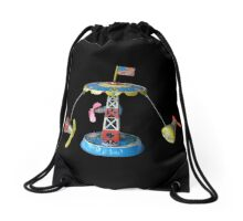 Mercury Astronaut Orbit Vintage Tin Toy Drawstring Bag