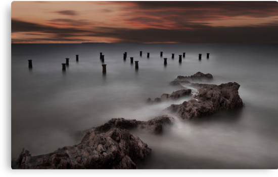 Old Pier Stumps 1 by Robert Kendall