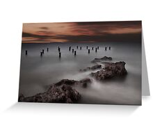 Old Pier Stumps 1 Greeting Card