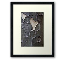 Gray Abstract Framed Print