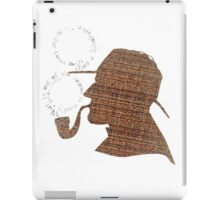 Sherlock Holmes Literary Quote Typography Man Cave Art Manique London Detective Brown Tweed Pattern iPad Case/Skin