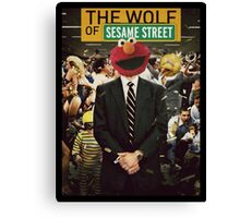 The Wolf Of Wall street-Parody Poster Canvas Print